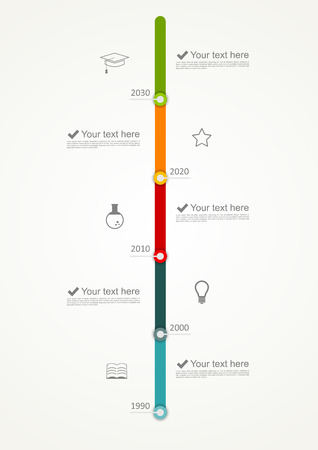 vertical lines: Timeline infographic
