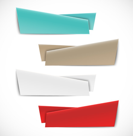 red  ribbon: Set of abstract banners