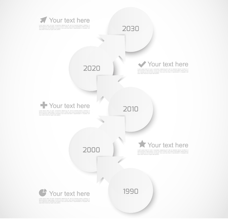 time line: Infographic template with circles and arrows Illustration