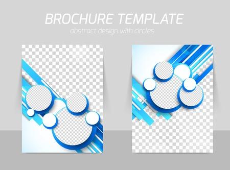 catalog templates: Blue brochure with circles Illustration