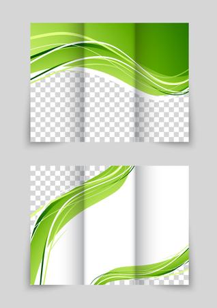 Brochure with wave Vector