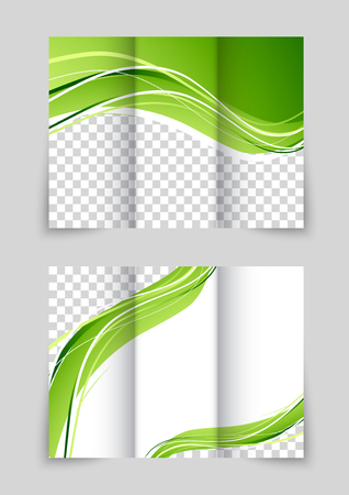 Brochure with wave Vector