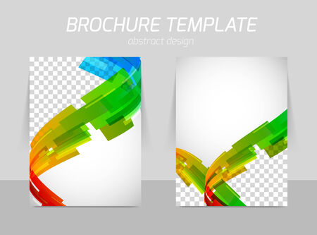 book style: abstract line motion brochure Illustration