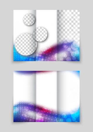tri color: Abstract wavy brochure