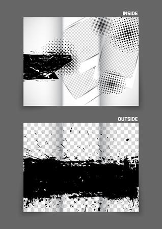 tri: Grunge tri fold brochure