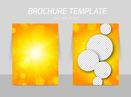 Orange flyer template design Vector