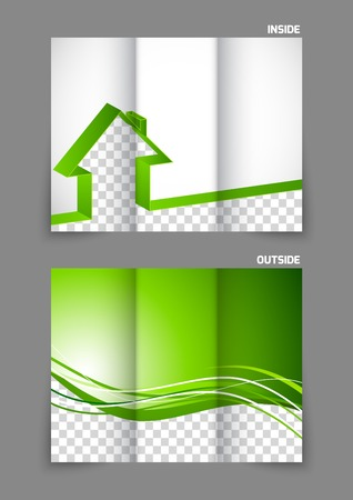Real estate tri-fold brochure Vector