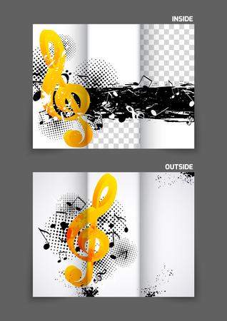 tri: Music tri fold brochure Illustration