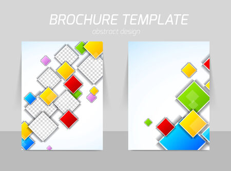 square shape: colorful squares flyer template
