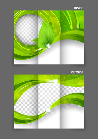 tri color: tri-fold brochure Illustration