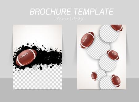 pelota rugby: diseño de la plantilla flyer Vectores