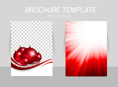 christmas promotion: flyer template design