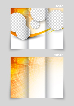 tri fold: Tri-fold brochure template design Illustration