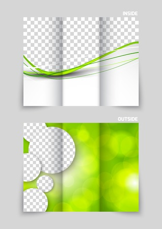 brochure template: Tri-fold brochure template design Illustration