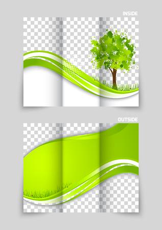 Tri-fold brochure template design Vector