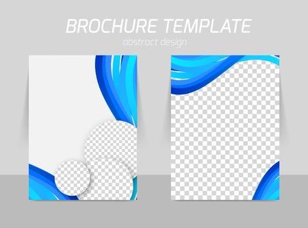 Flyer template back and front design Ilustração