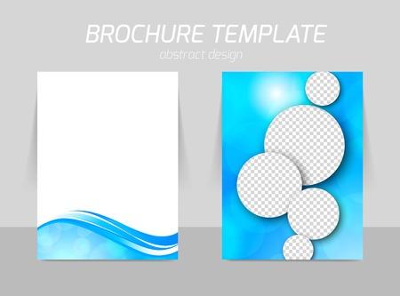 presentation folder: Flyer template back and front design Illustration