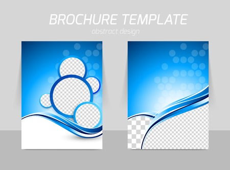 leaflet design: Flyer template back and front design Illustration
