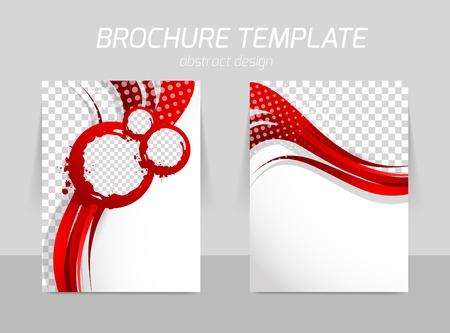christmass: Flyer template back and front design Illustration