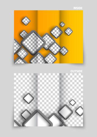 catalog templates: Tri-fold brochure template design Illustration