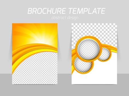 전단 템플릿 앞면과 뒷면의 디자인