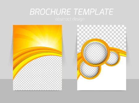 Flyer template back and front design Vectores