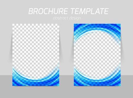 a4: Flyer template back and front design Illustration