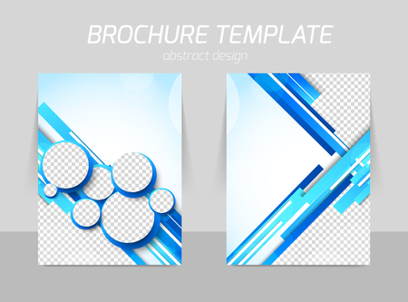 Flyer template back and front design Vettoriali