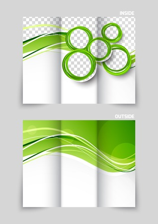 Tri-fold brochure template design Illustration