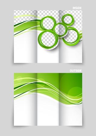 Tri-fold brochure template design Vettoriali