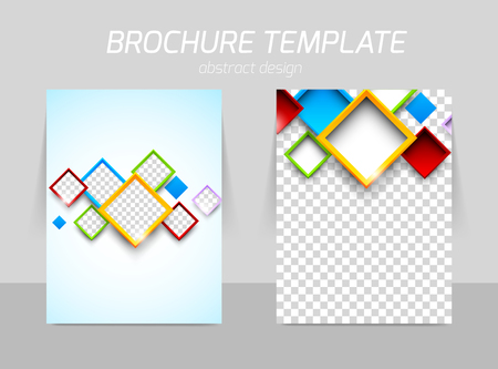 square shape: Flyer back and front template design