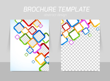exercise book: Flyer back and front template design