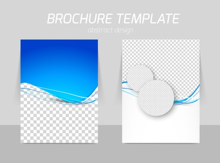 チラシのバックとフロントのテンプレート デザイン  イラスト・ベクター素材