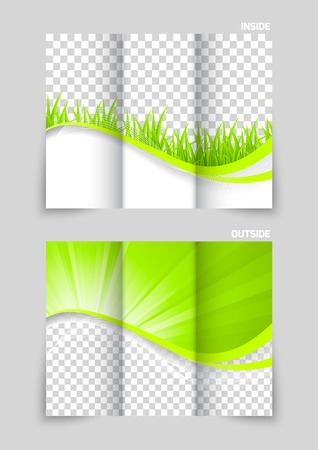 template: Tri-fold brochure template design Illustration