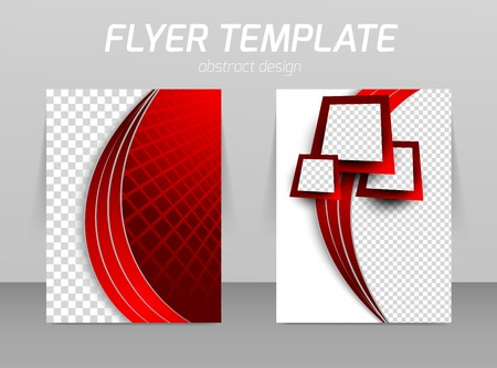 Flyer back and front design template Vettoriali