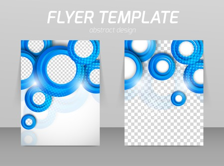Flyer back and front design template Vectores