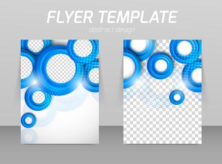 Flyer back and front design template Illustration
