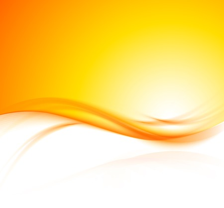 wave: orange background