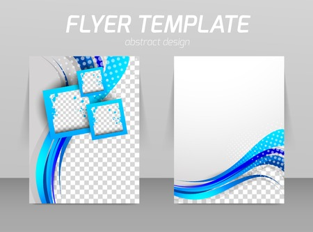 color pages: Flyer template