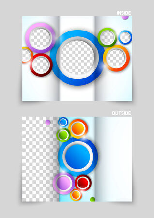 tri color: Tri-fold brochure design Illustration