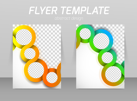 book style: Flyer template