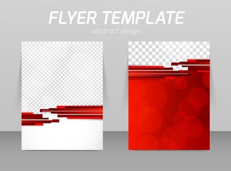 Abstract flyer template design Vectores