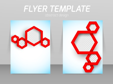 pamphlet: Abstract flyer template design Illustration