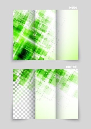 tecnology: Tri-fold brochure template design Illustration