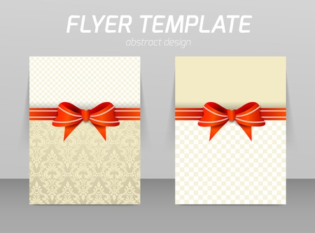 christmas promotion: Abstract flyer template design Illustration