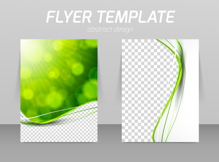 a4: Abstract flyer template design Illustration