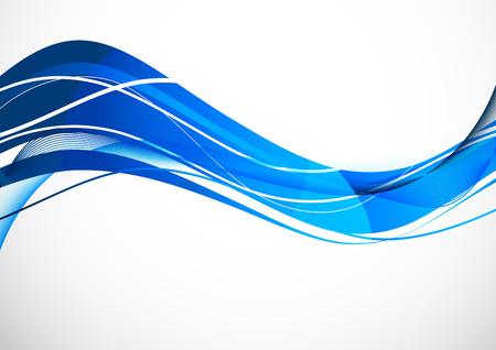 Abstract blue mouvement ondulé design tech background