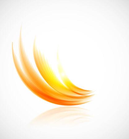 Zusammenfassung orange Hintergrund