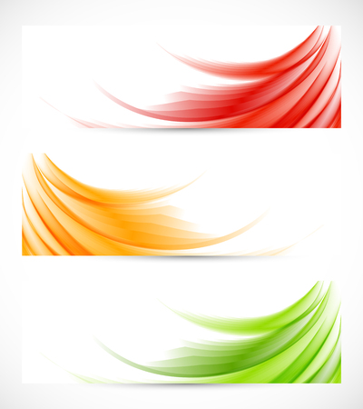 web graphics: Set of wavy banners Illustration