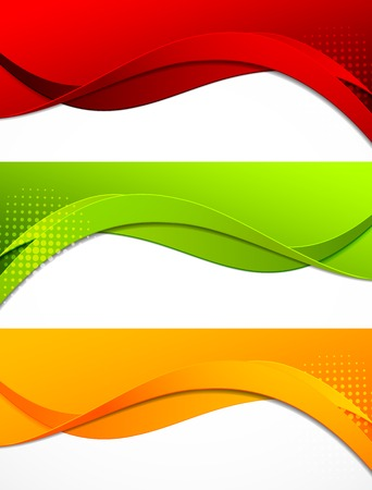 yellow  green: Set of banners